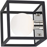 Picture for category Mitzi By Hudson Valley H141301-PN/BK Bath Lighting Polished Nickel Metal Glass Aira