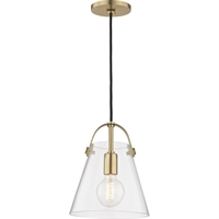Picture for category Mitzi By Hudson Valley H162701S-AGB Pendants Aged Brass Metal Glass Karin