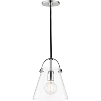Picture for category Mitzi By Hudson Valley H162701S-PN Pendants Polished Nickel Metal Glass Karin
