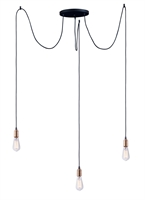 Picture for category Maxim Lighting 12123BKAB Pendants Black and Antique Brass Steel and Aluminum Early Electric