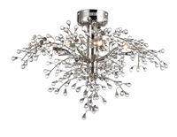 Picture for category Maxim Lighting 38502CLPN Semi Flush Polished Nickel Steel and Glass Cluster