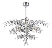 Picture for category Maxim Lighting 38504CLPN Chandeliers Polished Nickel Steel and Glass Cluster