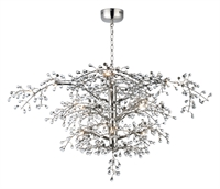 Picture for category Maxim Lighting 38506CLPN Chandeliers Polished Nickel Steel and Glass Cluster