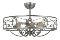 Picture for category Maxim Lighting 60013SM Indoor Ceiling Fans Siler Mist Steel and K9 Crystal and PP Solitaire