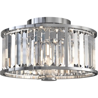 Picture for category DVI Lighting DVP25711CH-CRY Semi Flush Chrome Vimy Ridge