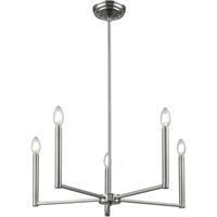 Picture for category DVI Lighting DVP26225SN Chandeliers Satin Nickel Menin Road