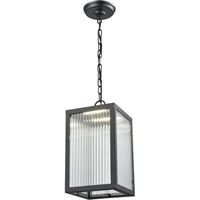 Picture for category DVI Lighting DVP26975BK-RI Outdoor Pendant Black Bishop