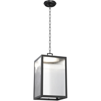 Picture for category DVI Lighting DVP26976BK-RI Outdoor Pendant Black Bishop