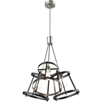Picture for category DVI Lighting DVP29423SN/GR Pendants Satin Nickel and Graphite Gentry