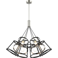 Picture for category DVI Lighting DVP29426SN/GR Pendants Satin Nickel and Graphite Gentry