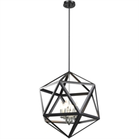 Picture for category DVI Lighting DVP29505SN/GR Pendants Satin Nickel and Graphite Polygon