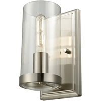 Picture for category DVI Lighting DVP9099BN-CL Wall Sconces Buffed Nickel Erin