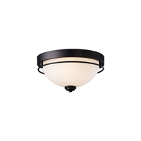 Picture for category Canarm IFM421A15ORB Flush Mounts Oil Rubbed Bronze Steel/Lead Wire Somerset
