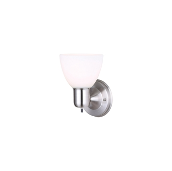 Picture of Canarm IWF084BN Wall Sconces Brushed Nickel Steel/Copper Wire/Glass/Bakelite Signature