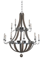 Picture for category Kalco Lighting 300485CH Chandeliers Chrome Sharlow