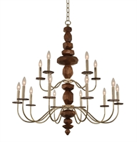 Picture for category Kalco Lighting 304952CG Chandeliers Champagne Gold Lassen