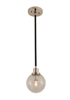 Picture for category Kalco Lighting 315410BPN Mini Pendants Matte Black With Nickel Accents Cameo