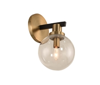 Picture for category Kalco Lighting 315421BBB Wall Sconces Matte Black with Brushed Pearlized Brass Cameo