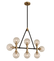 Picture for category Kalco Lighting 315453BBB Island Lighting Matte Black with Brushed Pearlized Brass Cameo