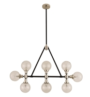 Picture for category Kalco Lighting 315453BPN Island Lighting Matte Black With Nickel Accents Cameo
