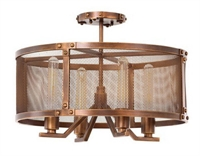Picture for category Kalco Lighting 502140CP Semi Flush Copper Patina Chelsea