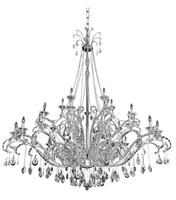 Picture for category Allegri 023550-010-FR001 Chandeliers Chrome Torrelli