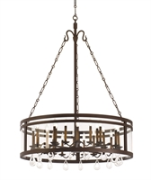 Picture for category Kalco Lighting 5799BZ Chandeliers Bronze Morris