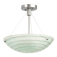 Picture for category Kalco Lighting 5990SN Semi Flush Satin Nickel Aqueous