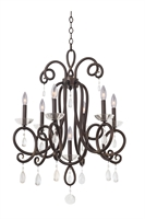 Picture for category Kalco Lighting 7227TB Chandeliers Tarnished Brass Winona