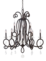 Picture for category Kalco Lighting 7228TB Chandeliers Tarnished Brass Winona