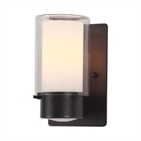 Picture for category Wall Sconces 1 Light With Hammered Black Finished Medium Bulbs 5 inch 100 Watts