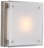 Picture for category Flush Mounts 1 Light With Buffed Nickel Tone Finished T3 Bulbs 12 inch 100 Watts