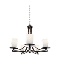 Picture for category Chandeliers 5 Light With Oil Rubbed Bronze Finish Medium Bulbs 23 inch 500 Watts