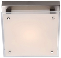 Picture for category Flush Mounts 1 Light With Buffed Nickel Tone Finished LED Bulbs 10 inch 12 Watts