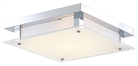 Picture for category Flush Mounts 1 Light With Buffed Nickel Tone Finished LED Bulbs 12 inch 16 Watts
