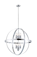 Picture for category Pendants 12 Light With Chrome Tone Finish Candelabra Base Bulbs 32 inch 720 Watts