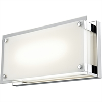 Picture for category Wall Sconces 1 Light With Chrome Tone Finished LED Bulb Type 12 inch 10.5 Watts