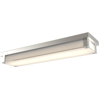 Picture for category Bathroom Vanity 1 Light With Buffed Nickel Tone Finish LED Bulbs 24 inch 30 Watts