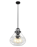 Picture for category Pendants 3 Light With Graphite Tone Finished Carbon Bulb Type 16 inch 180 Watts