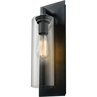 Picture for category Wall Sconces 1 Light With Black Tone Finished Medium Base Bulbs 5 inch 60 Watts