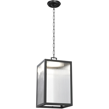 Picture of Outdoor Pendant 1 Light With Black Tone Finished LED Bulb Type 12 inch 20 Watts