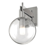 Picture for category Wall Sconces 1 Light With Chrome Tones In Finished G9 Bulb Type 6 inch 50 Watts
