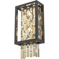 Picture for category RLA DVI RL-270739 Wall Sconces Champagne Gold and Graphite  Amethyst