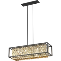 Picture for category Island Lighting 6 Light With Champagne Gold and Graphite Finish G9 Bulbs 36 inch 300 Watts