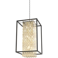 Picture for category Pendants 9 Light With Champagne Gold and Graphite Finish Medium Bulbs 22 inch 900 Watts