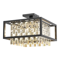 Picture for category RLA DVI RL-270744 Semi Flush Champagne Gold and Graphite  Amethyst