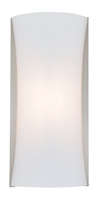 Picture for category Wall Sconces 1 Light With Satin Nickel Tone Finished LED Bulbs 16 inch 14 Watts