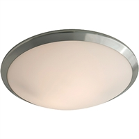 Picture for category Flush Mounts 1 Light With Chrome Tone In Finished LED Bulb Type 4 inch 20 Watts