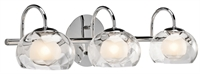 Picture for category Bathroom Vanity 3 Light With Chrome Tone Finish Glass Material G9 Bulb size 8 inch