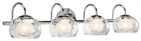Picture for category Bathroom Vanity 4 Light With Chrome Tone Finish Steel Material G9 Bulb size 8 inch